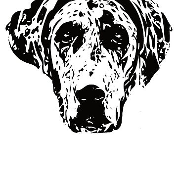 Great Dane Face Design - A Dane Christmas Gift by DoggyStyles
