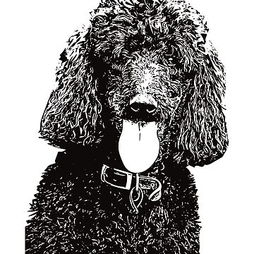 Poodle Face Design - A Poodle Christmas Gift by DoggyStyles