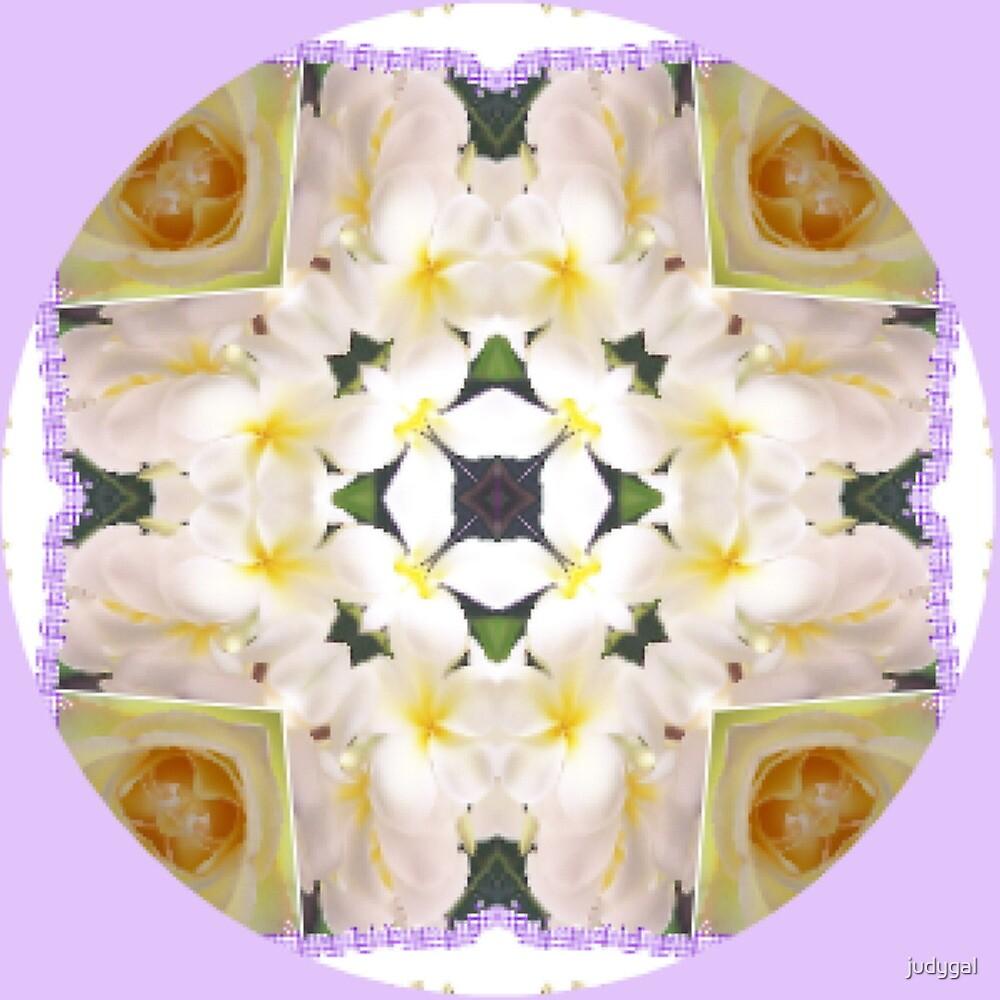 Frangipani Cross..Kaleidoscope by judygal