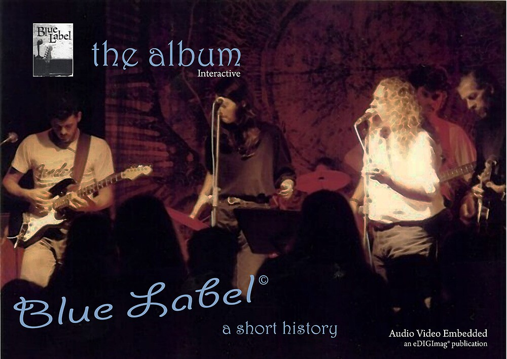 Blue Label Album Cover by Paul Lindenberg