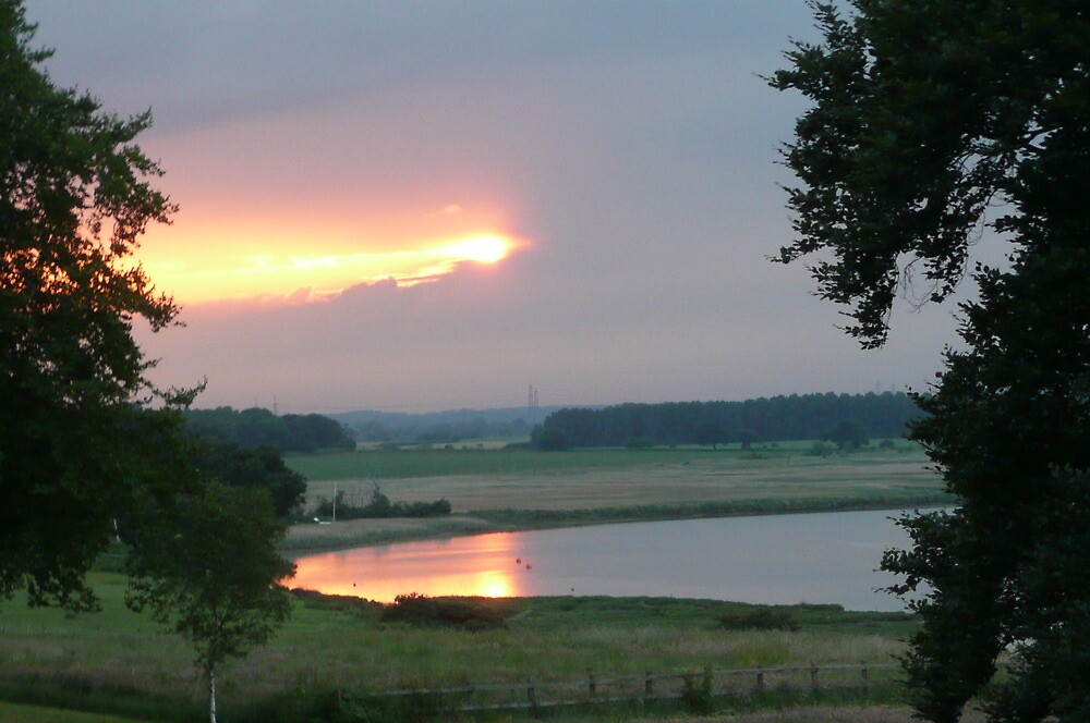 Sunset at Iken by Angela Wiley