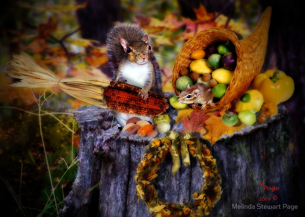 """""""A Woodland Thanksgiving With Alex & Izzy"""" by Melinda Stewart Page"""