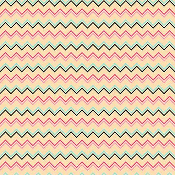 Pink And Blue Chevron Geometric Pattern by quarantine81