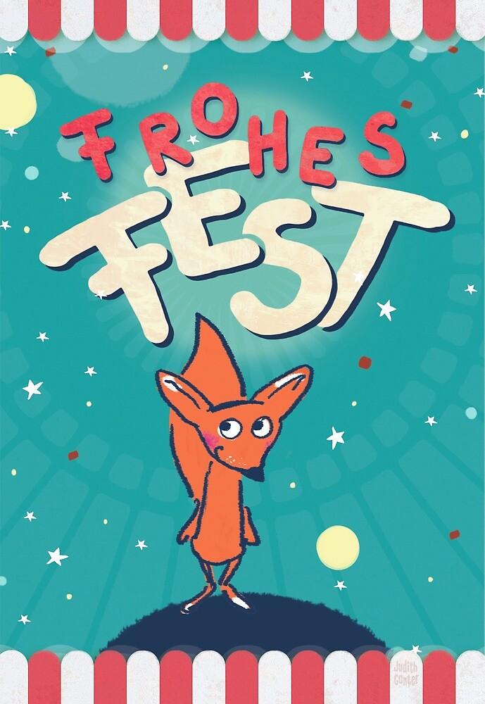Fuchs im Weltall - Frohes Fest von Judith Ganter