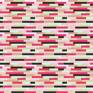 Pink & Black Geometric Lines Pattern by quarantine81