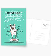 Trampolinschweinchen - Eine HOPSFIDELE Weihnachtszeit Postkarten