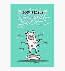 Trampolinschweinchen - Eine HOPSFIDELE Weihnachtszeit Fotodruck