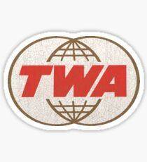 TWA Trans World Airlines USA Sticker