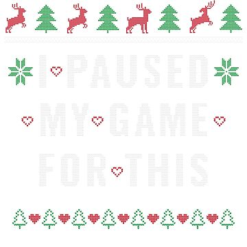 Funny Christmas Gaming Ugly Christmas Funny Gift by BlueBerry-Pengu