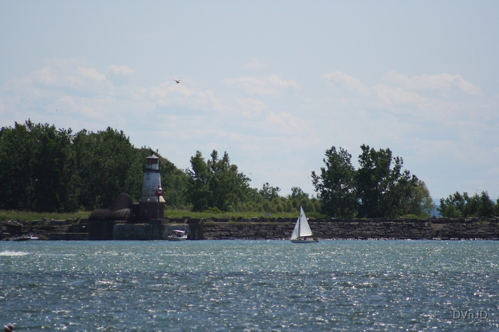 Sailing on Lake Erie by DVnJD