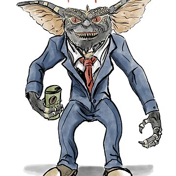 Time for coffee business gremlin by Extreme-Fantasy