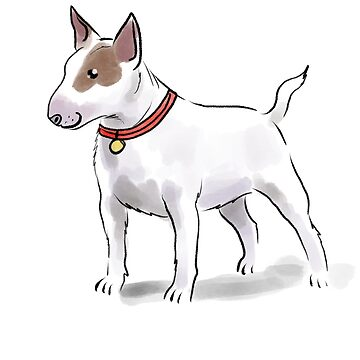 Staffordshire Bull Terrier Illustration  by Extreme-Fantasy