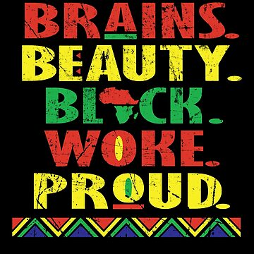 Black History Month African Pride Apparel Gift by CustUmmMerch