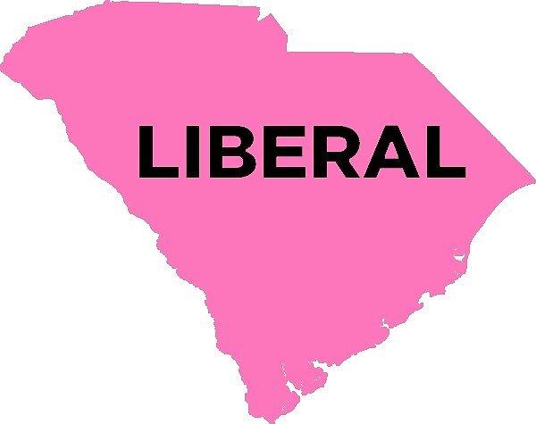 Liberal South Carolina - light pink by wokesouth