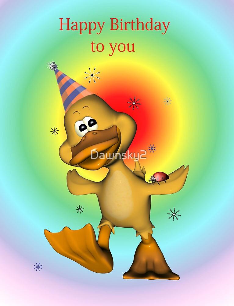 Happy Birthday Duckie card by Dawnsky2