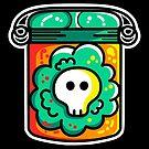 Kawaii Cute Skull In A Jar by Fiona Reeves