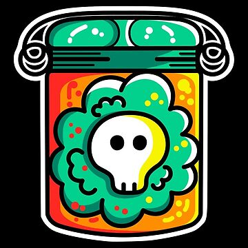 Kawaii Cute Skull In A Jar by freeves