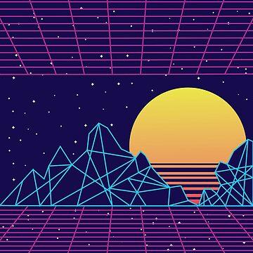 Vaporwave Sunset by Bethany-Bailey