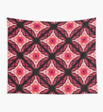 Pink and Black 1960's Groove Wall Tapestry