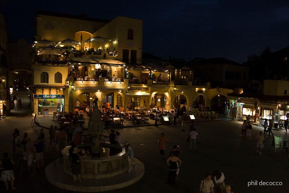 Rhodes After Dark by phil decocco