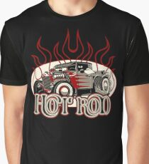 Cartoon retro hot rod with vintage lettering poster Graphic T-Shirt