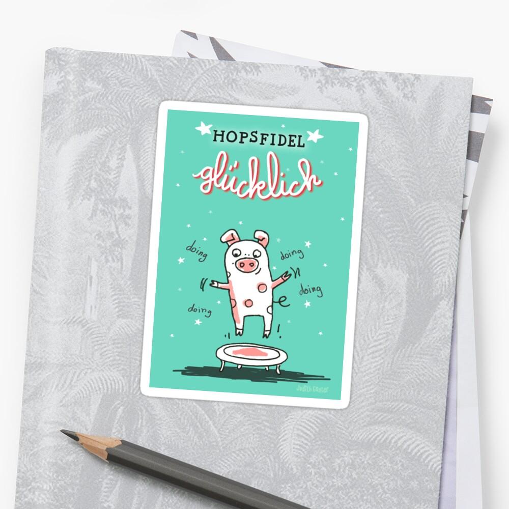 Trampolinschweinchen - Hopsfildel glücklich von Judith Ganter