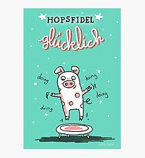Trampolinschweinchen - Hopsfildel glücklich Fotodruck