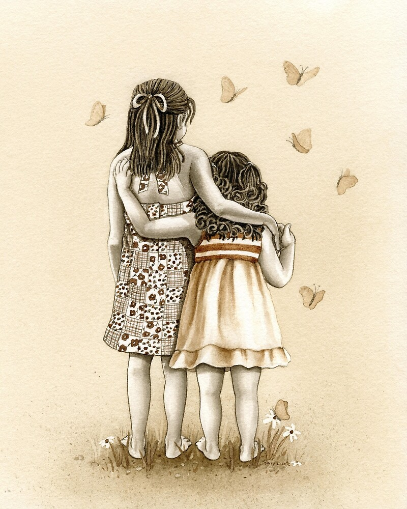 Girls with Butterflies by Tracy Lizotte