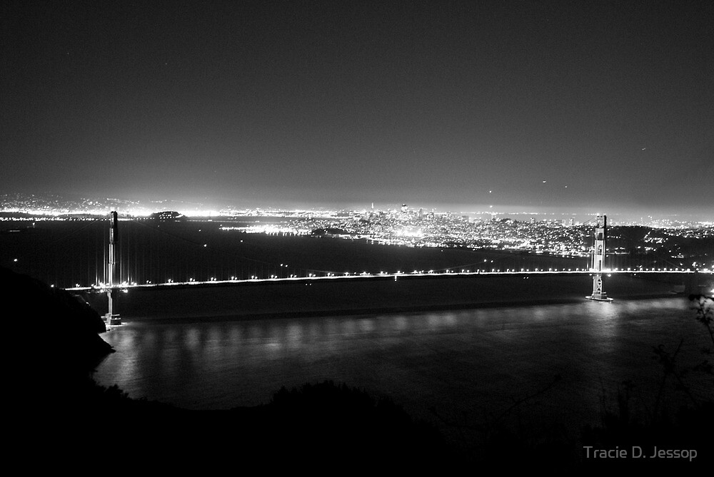 The Golden Gate at Night by Tracie D. Jessop