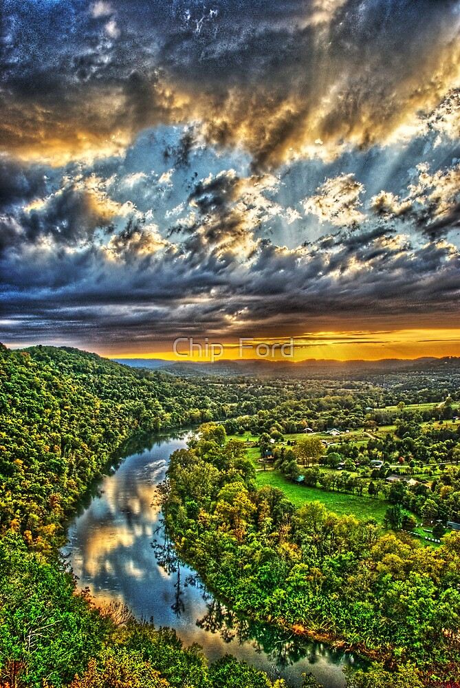 White River Sunset by Chip  Ford