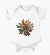 Picture in Picture - Flower with a bee Short Sleeve Baby One-Piece