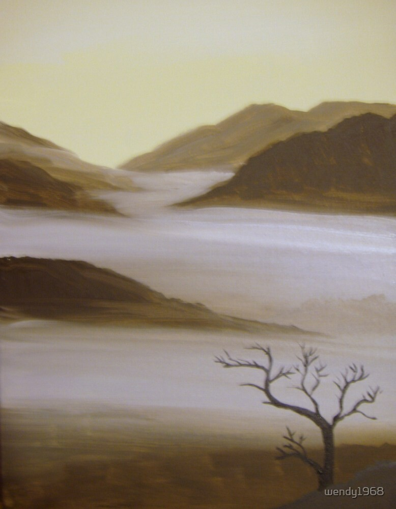 misty lake by wendy1968