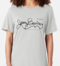 Jeremy Bearimy (with notation) Slim Fit T-Shirt