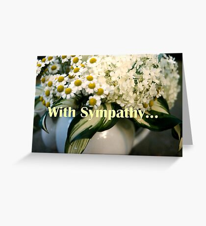 White Bouquet, for Sympathy Greeting Card