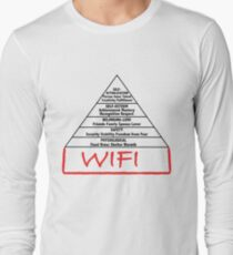 Wifi pyramid basis Long Sleeve T-Shirt