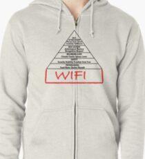 Wifi pyramid basis Zipped Hoodie