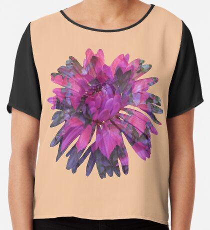Herbstblume Chiffontop für Frauen