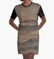 Seascape No 4, watercolour painting of ocean waves, rocks and light Graphic T-Shirt Dress
