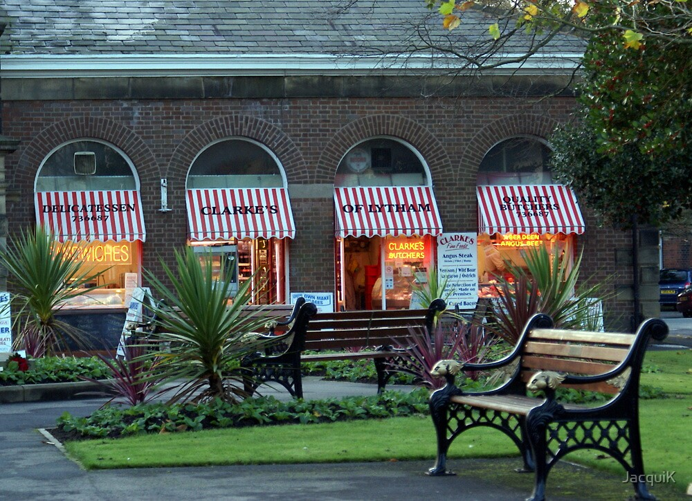 Clarkes Butchers and Benches. by JacquiK