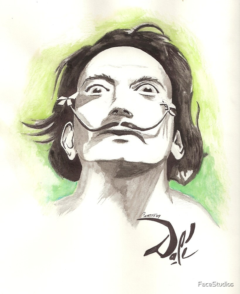 Salvador Dali drawing by FaceStudios