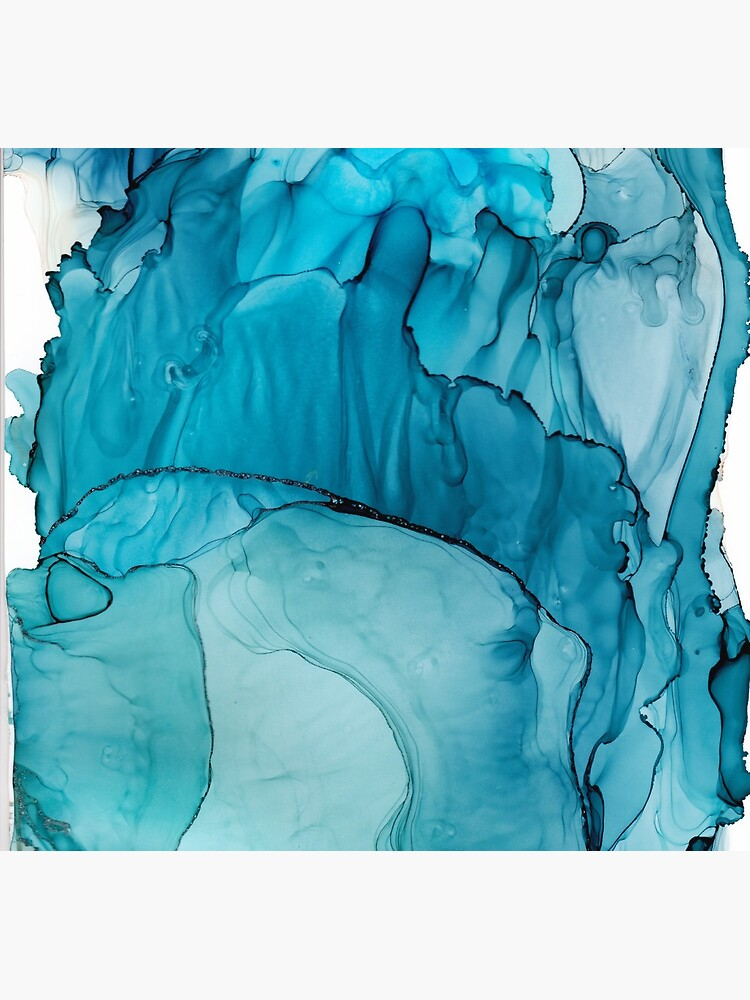 Matter To Me, Indigo Teal Ink by lakeandriver