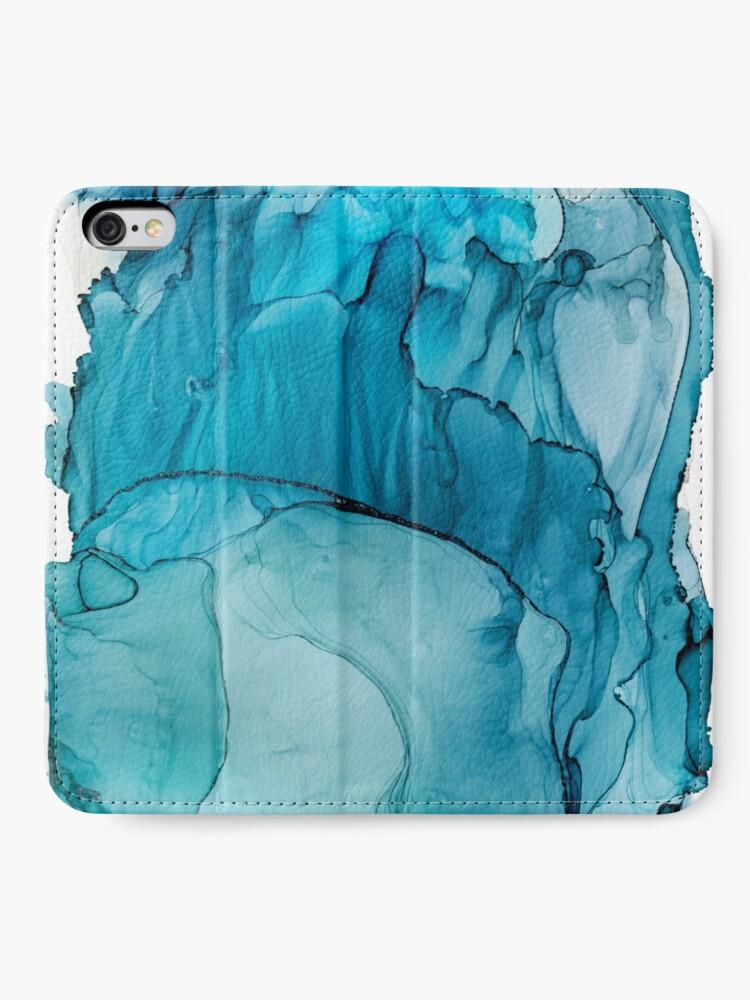 Alternate view of Matter To Me, Indigo Teal Ink iPhone Wallet