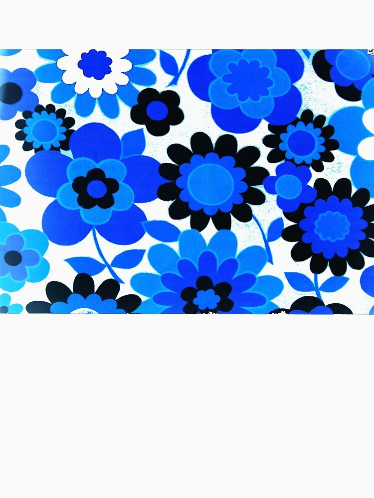 flower power in blue by violetstar