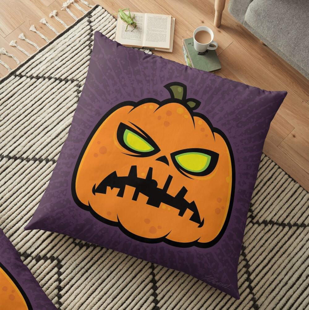 Pumpkin Zombie Floor Pillow