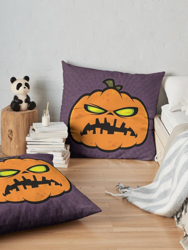 Alternate view of Pumpkin Zombie Floor Pillow