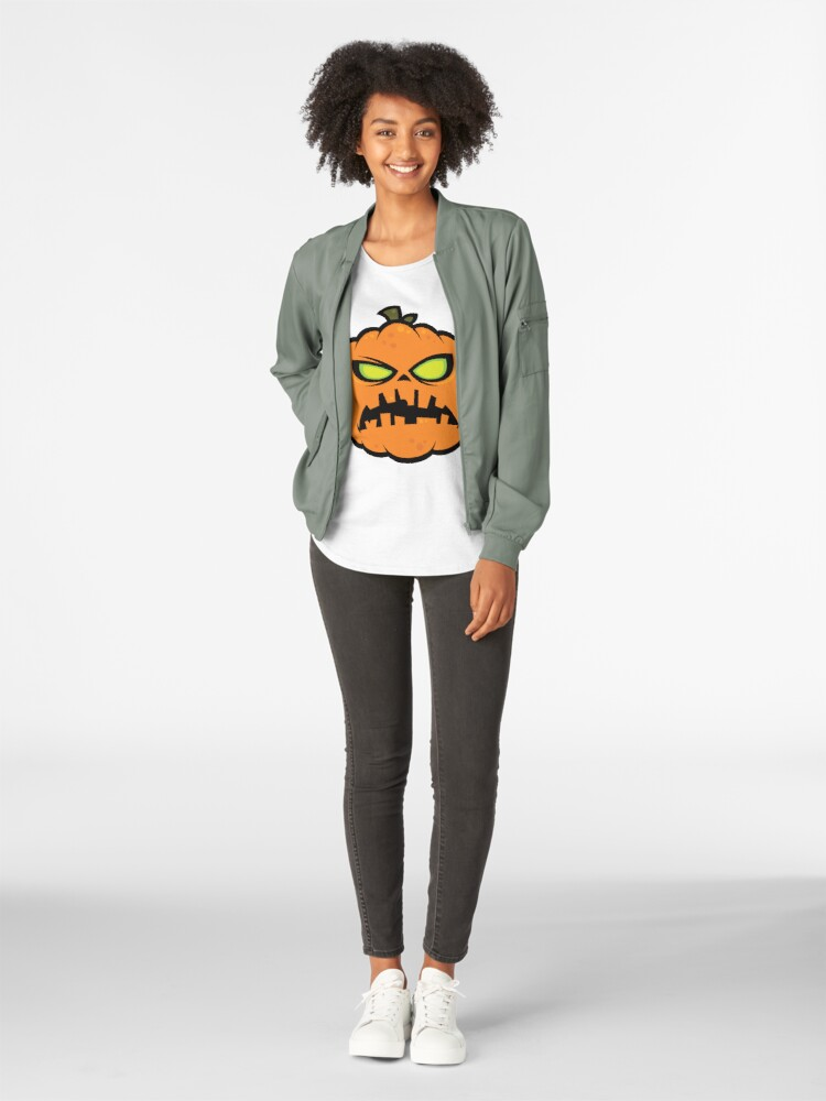 Alternate view of Pumpkin Zombie Premium Scoop T-Shirt