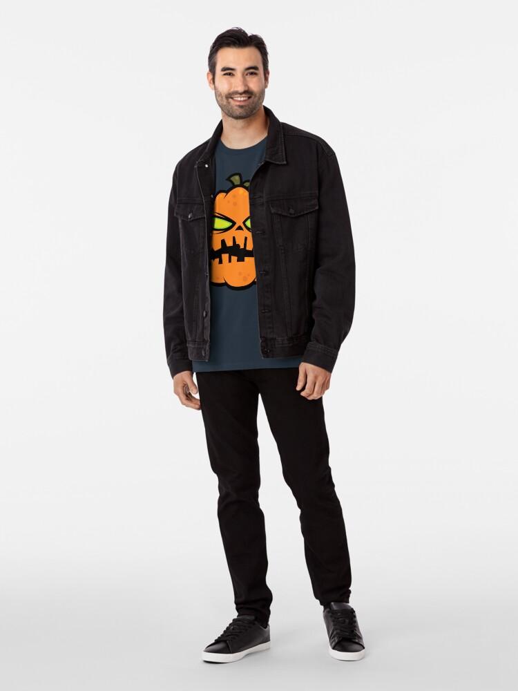 Alternate view of Pumpkin Zombie Premium T-Shirt