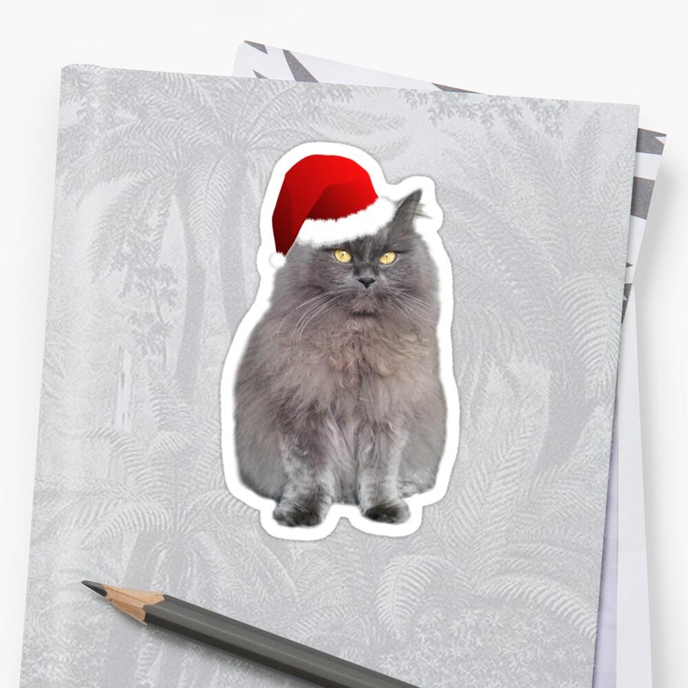 Meowy Christmas Kitty Sticker