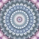 Plum and Grey Mandala by Kelly Dietrich