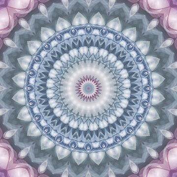 Plum and Grey Mandala by kellydietrich